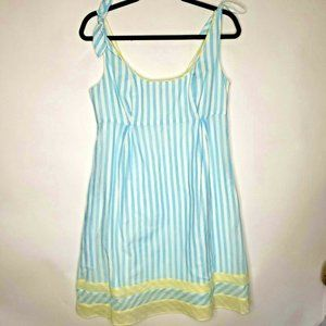 Lilly Pulitzer blue stripe cotton fit flare dress